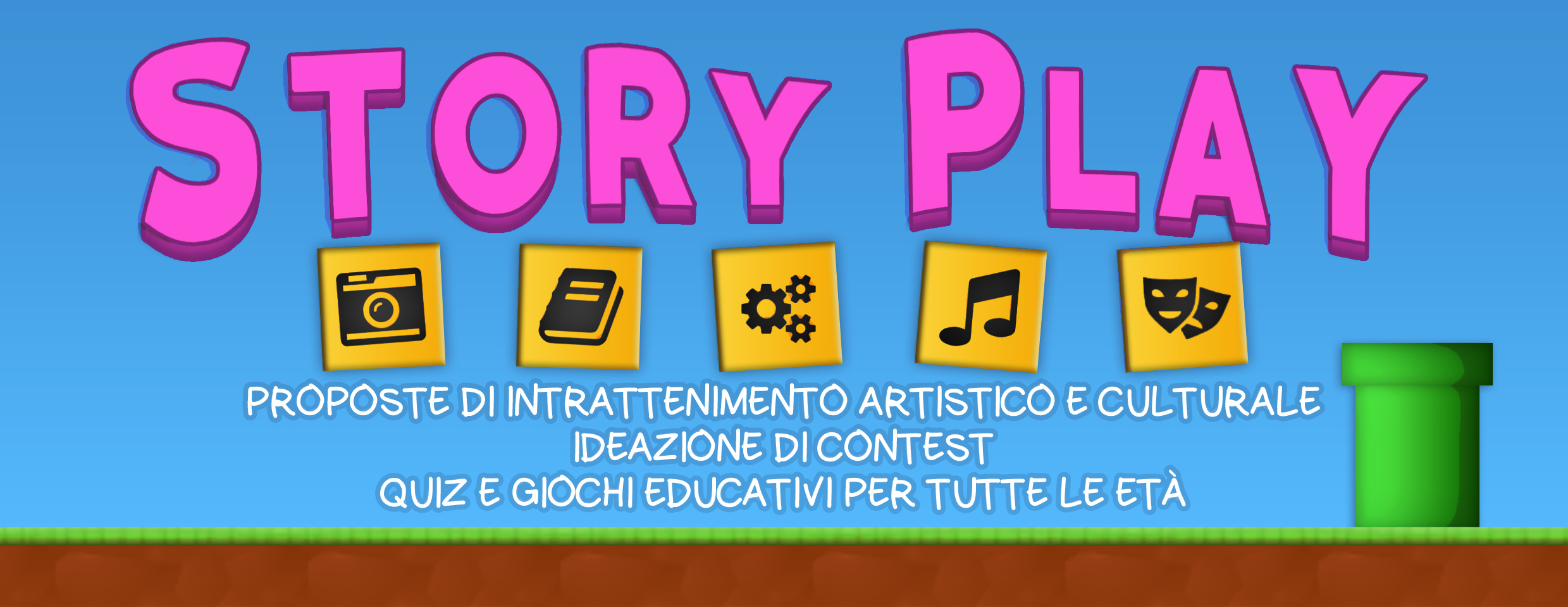Proposte di intrattenimento artistico e culturale, ideazione di contest, quiz e giochi educativi per tutte le età.